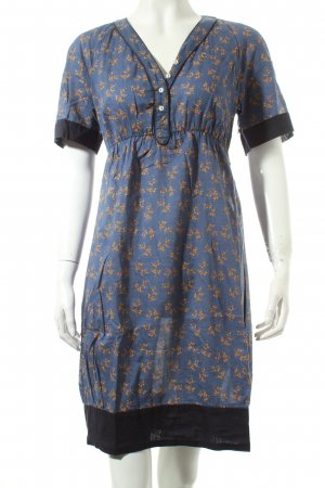 Campus by Marc O'Polo Blusenkleid blau-goldorange florales Muster Casual-Look