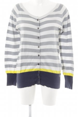 Campus by Marc O'Polo Cardigan striped pattern embroidered logo