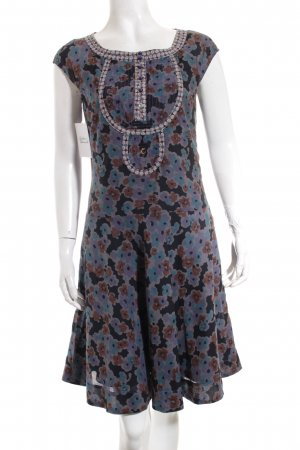 Campus by Marc O'Polo Kurzarmkleid florales Muster Hippie-Look