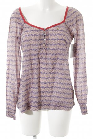 Campus by Marc O'Polo Langarm-Bluse abstraktes Muster Casual-Look