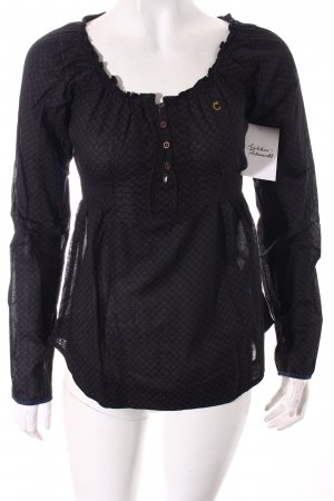 Campus by Marc O'Polo Langarm-Bluse schwarz-braunrot abstraktes Muster