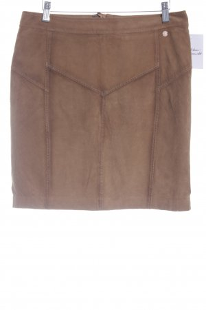 Campus by Marc O'Polo Leather Skirt cognac-coloured casual look