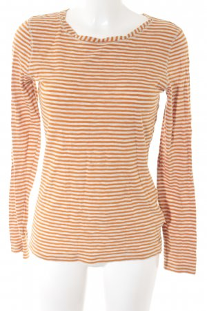 Campus by Marc O'Polo Longshirt wollweiß-orange grafisches Muster