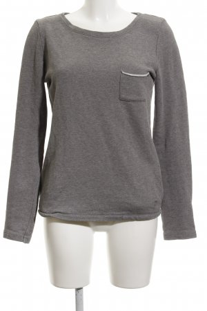 Campus by Marc O'Polo Rundhalspullover grau Casual-Look