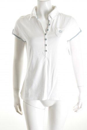 Campus by Marc O'Polo Shirt weiß-himmelblau Casual-Look
