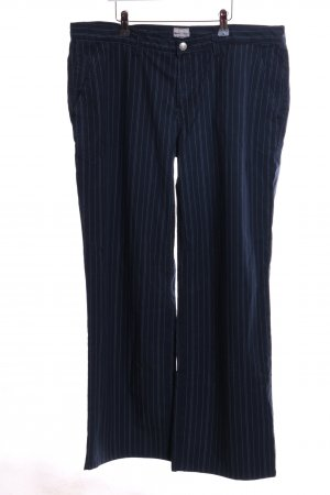 Campus by Marc O'Polo Stoffhose blau-hellgrau Streifenmuster Business-Look