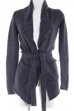 Campus by Marc O'Polo Strickjacke dunkelgrau Zopfmuster Casual-Look
