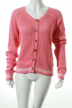 Campus by Marc O'Polo Strickjacke magenta Lochstrickmuster Casual-Look