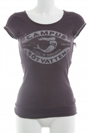 Campus by Marc O'Polo T-Shirt purpur-weiß Motivdruck Casual-Look