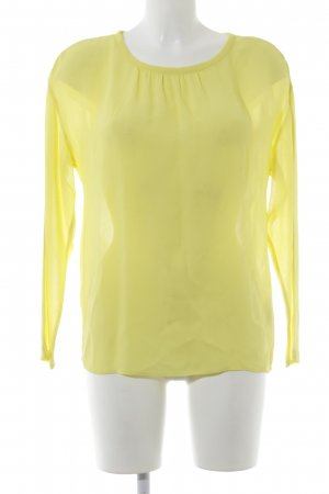 Campus by Marc O'Polo Transparenz-Bluse gelb-goldfarben Party-Look