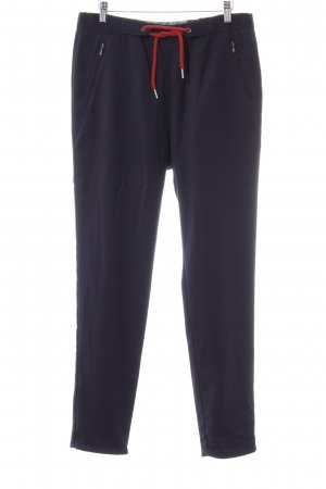 Campus Chinohose dunkelblau Webmuster Casual-Look