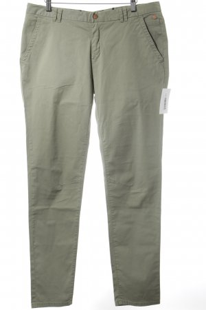 Campus Pantalon chinos vert clair style simple