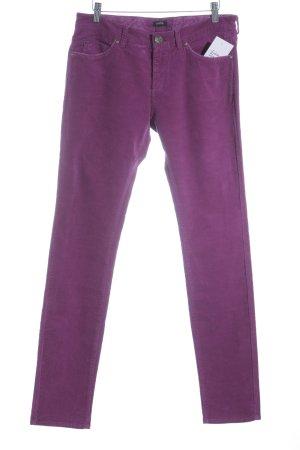 Campus Pantalon en velours côtelé violet style décontracté