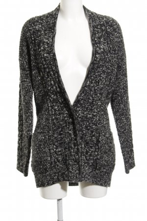 Campus Coarse Knitted Jacket black-white flecked casual look