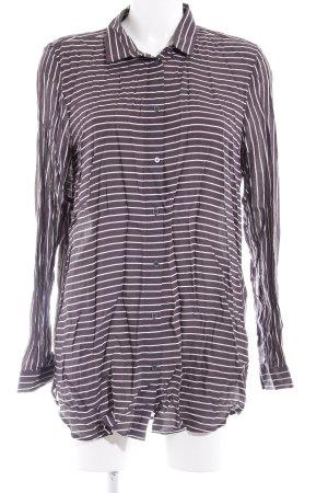 Campus Hemd-Bluse grau-weiß Streifenmuster Boyfriend-Look
