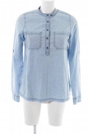 Campus Langarmhemd blau Casual-Look