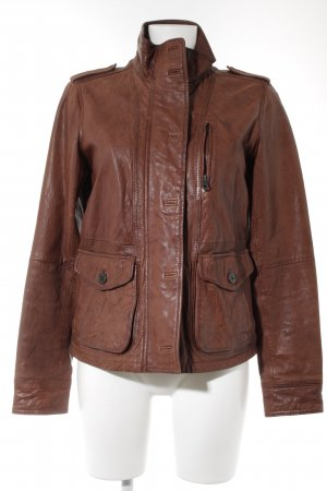 Campus Lederjacke braun Casual-Look