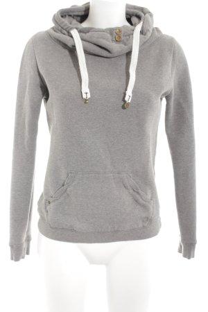 Campus Sweatshirt hellgrau-weiß Casual-Look