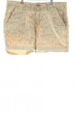 Campus Shorts creme-bronzefarben Motivdruck Casual-Look