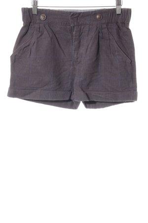 Campus Shorts graubraun-dunkelblau Hahnentrittmuster Street-Fashion-Look