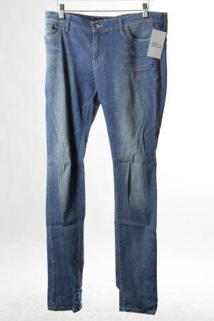Campus Skinny Jeans blau Washed-Optik