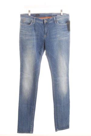 Campus Slim Jeans kornblumenblau-wollweiß Casual-Look