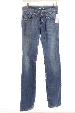 Campus Straight-Leg Jeans stahlblau-wollweiß Casual-Look