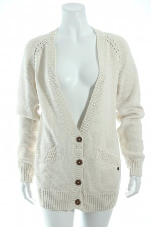 Campus Strick Cardigan creme College-Look