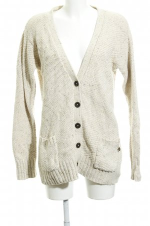 Campus Strick Cardigan creme-goldorange meliert Casual-Look