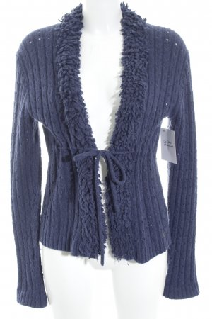 Campus Strickjacke blau Casual-Look