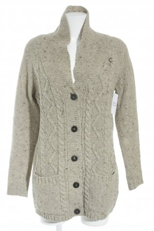 Campus Strickjacke hellbraun Casual-Look