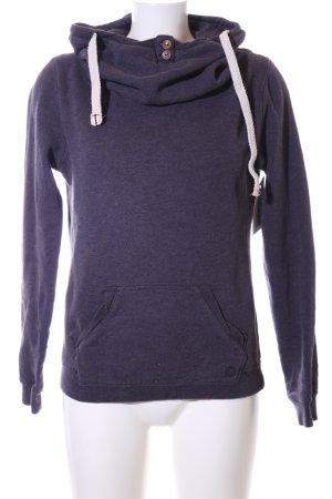 Campus Sweatshirt lila meliert Casual-Look
