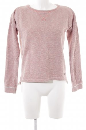 Campus Sweatshirt creme-hellrot meliert Casual-Look