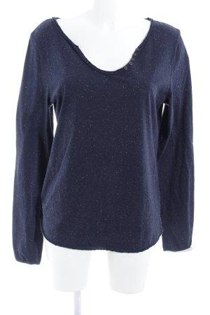 Campus Sweatshirt dunkelblau-wollweiß Casual-Look