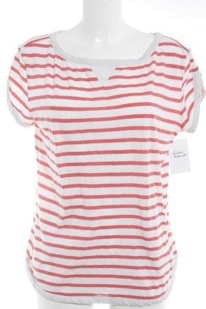 Campus T-Shirt hellrot-weiß Streifenmuster sportlicher Stil