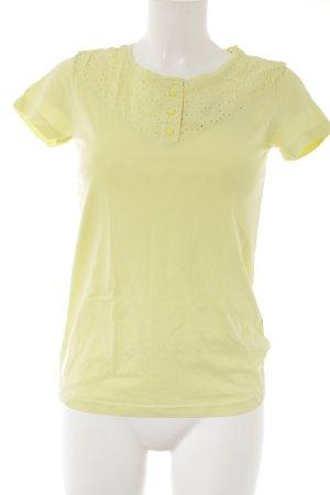 Campus T-Shirt neongelb-blassgelb Casual-Look
