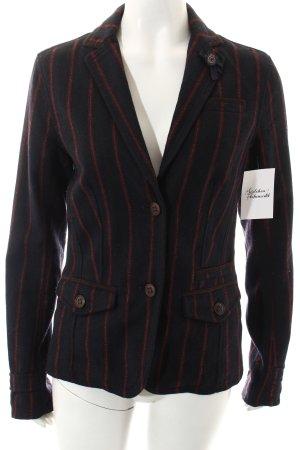 Campus Wool Blazer dark blue-brick red striped pattern street-fashion look
