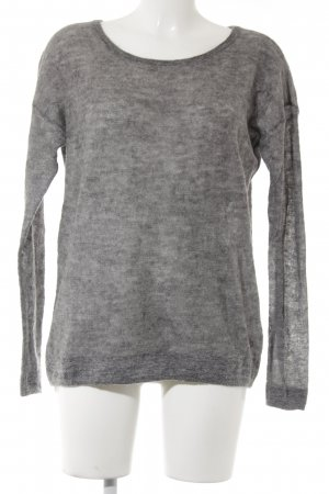 Campus Wollpullover grau meliert Casual-Look