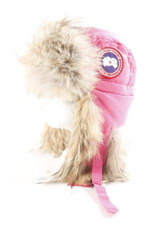 Canada Goose Chapeau d'aviateur rose-beige molletonné