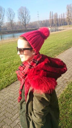 Canadian Classics Mütze Beanie Fellpuschel Bommel Fell Fur Pelz Strick Knit