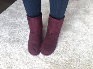 Canadian Classics Short Boots magenta-purple polyester