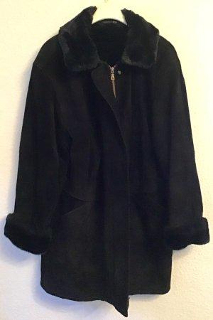 Canda Leren jas zwart