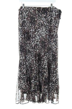 Canda Jupe à plis motif léopard imprimé animal