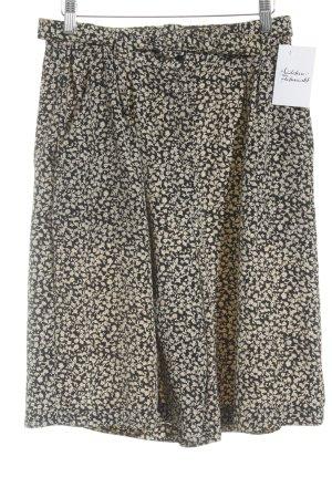 Canda Hosenrock creme-schwarz florales Muster