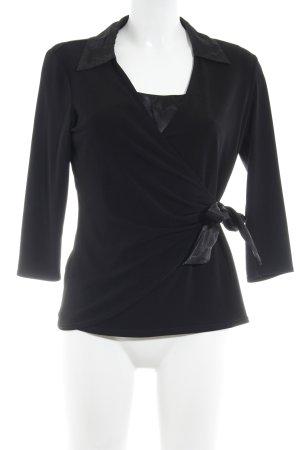 Canda Twin set in jersey nero elegante