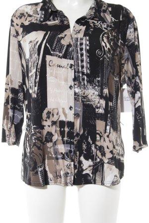 Canda Langarm-Bluse abstrakter Druck Street-Fashion-Look
