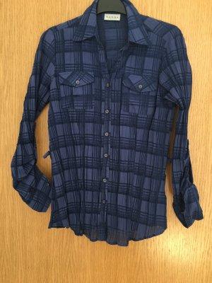 Canda Langarmhemd dunkelblau Karomaster