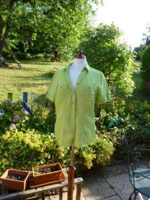 Canda Linen Blouse meadow green