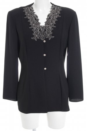 Canda Long-Blazer schwarz Casual-Look