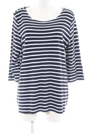 Canda Ringelshirt blau-weiß Streifenmuster Casual-Look